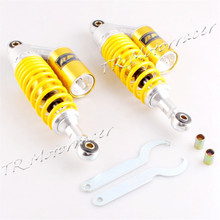 For 50cc 70cc 90cc 110 125cc 150cc Dirt Bike Scooter Universal 280mm A Pair 11″ Round End Hole Rear Air Shock Absorbers Yellow