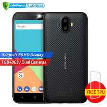 Ulefone S7 1 GB RAM + 8 GB ROM Dual Cámaras Traseras Teléfono Móvil 5.0 pulgadas HD MTK6580A Quad Core Android 7.0 Cámara de 8MP 3G WCDMA teléfono móvil