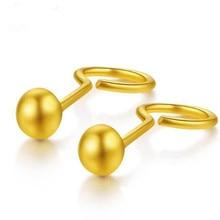 Wholesale Trendy 18K Gold Earrings Bijoux Fashion Small Bead Stud For Women Fine Jewelry brincos