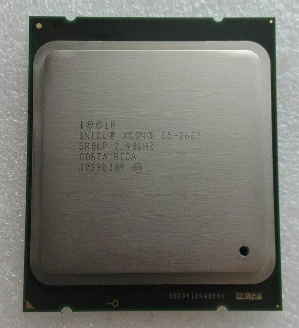 Intel Xeon E5 2667 LGA 2011 2.9GHz 6 Core 12 אשכולות מעבד מעבד
