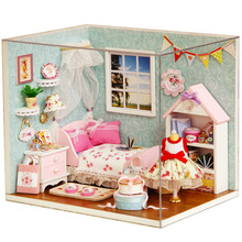 Doll House Furniture Diy Miniature 3D Wooden Dollhouse Assemble The Model By Hand Education Toys For Children Birthday Gifts J22 стоимость