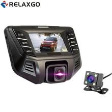 Relaxgo Car DVR Mini Video Recorder Novatek 96655 Car Camera Full HD 1080P Dual Lens Dash Cam WDR Registrator Car Black Box