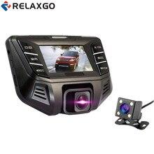 Cheapest prices Relaxgo Car DVR Mini Video Recorder Novatek 96655 Car Camera Full HD 1080P Dual Lens Dash Cam WDR Registrator Car Black Box