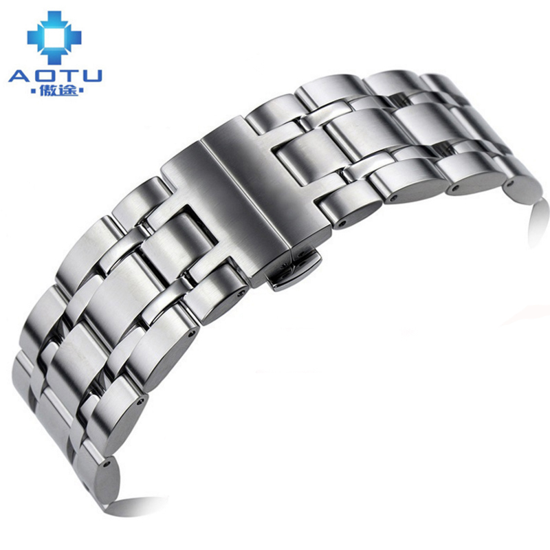 Men's Stainless Steel Watch Straps For Tissot 1853 Qutub Series Watchband For T035 407 439 627 Steel Watch Band Male Nato Strap tissot t006 407 16 053 00