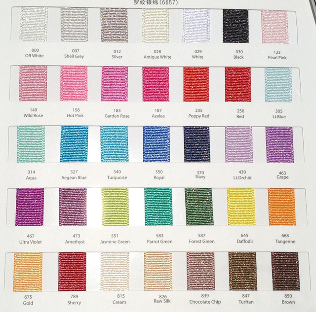The Color Chart Of Silver Glitter Grosgrain Ribbon