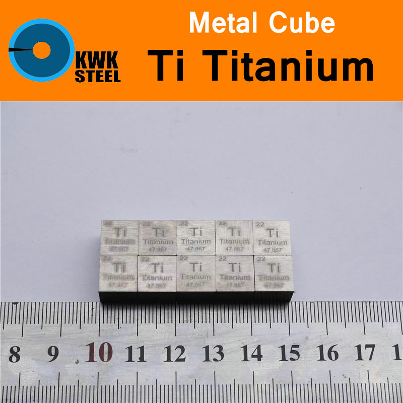 Ti Titanium Cube Coin Block Plate Sheet High Pure 99.5% Metal Elements Square Cut for Research Study University Collection tungsten sheet plate for scientific research and experiment high purity