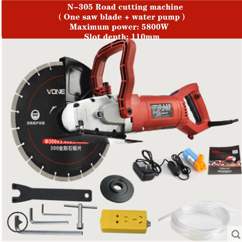 220V 5.8KW road cutting machine cutting depth 110mm electric Wall Chaser Groove Cutting Steel Concrete cutting machine