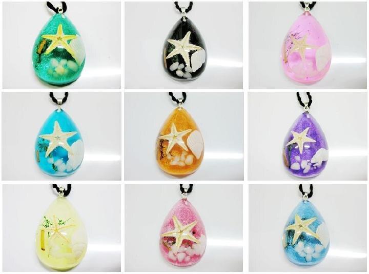 FREE SHIPPING 54 pcs Mix fancy starfish necklace Vogue Drop Shape specimen