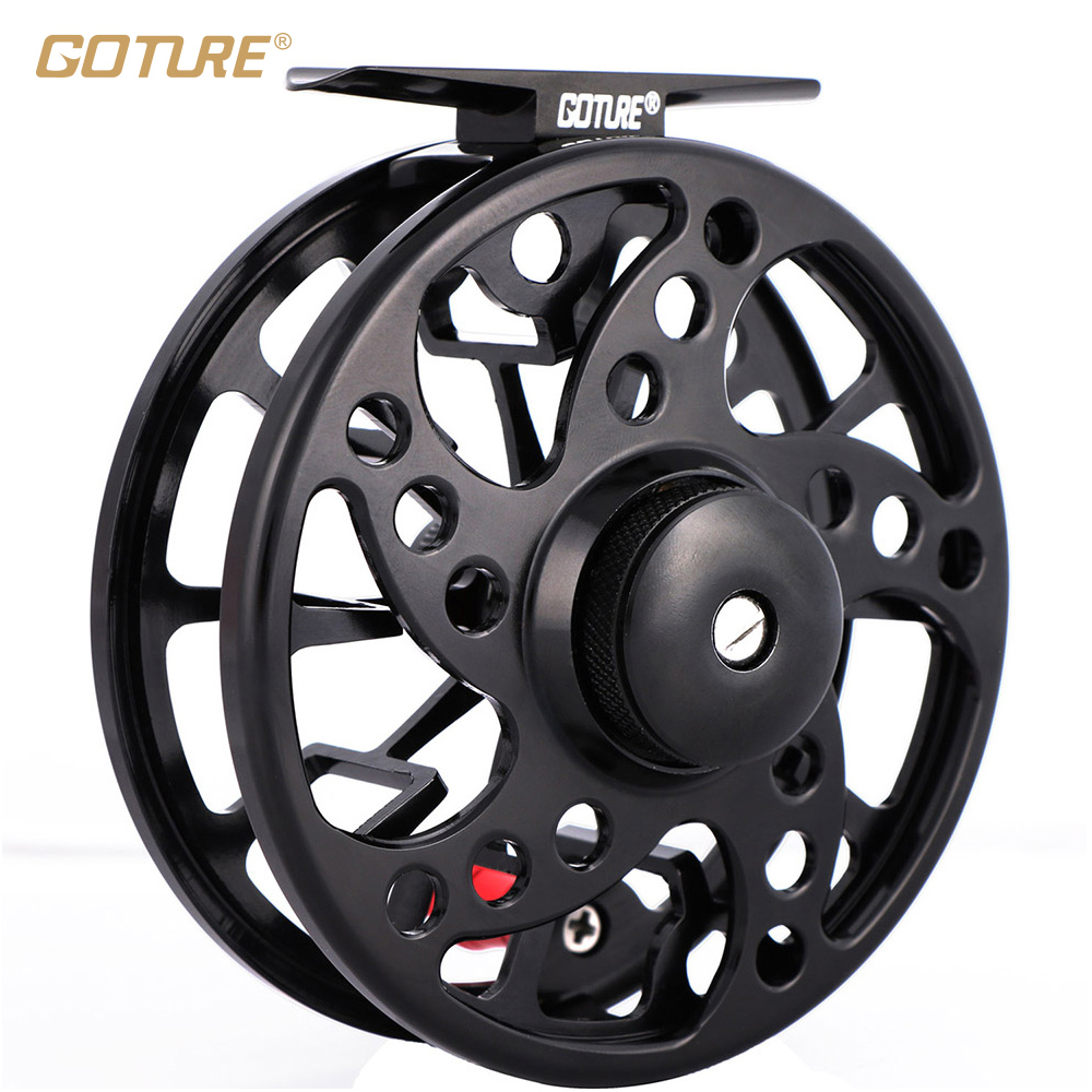 Goture SPARK Fly Reel 5/6 7/8 2+1BB Fishing Reel Max Drag 8kg Super Lightweight CNC-machined Aluminum Large Arbor Fishing Wheel 95mm fly fishing reel 7 8 cnc machined aluminum 2 1bb fly spool fishing wheel fishing accessory