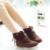 2016 Novas Mulheres Da Moda Trançado Borla Camurça Botas De Couro Confortáveis Botas Dedo Do Pé Redondo Casuais Plana Tamanho Sapatos Booties BAOK-93c0