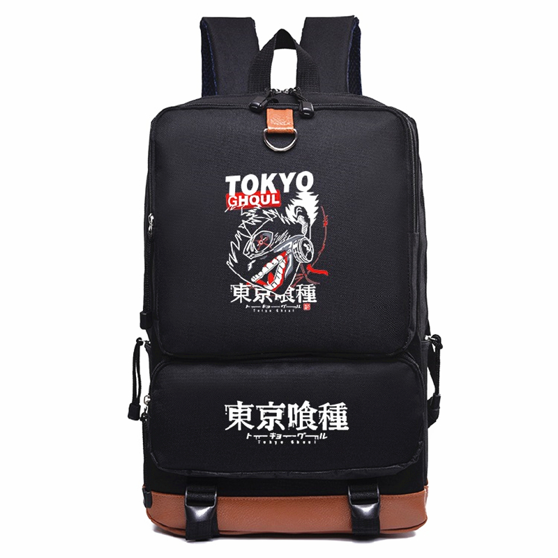 2018 New Arrivals Anime Tokyo Ghoul Backpack Luxurious Softback Zipper Backpack Double Shoulder Bag Knapsack Mochila Laptop Bag