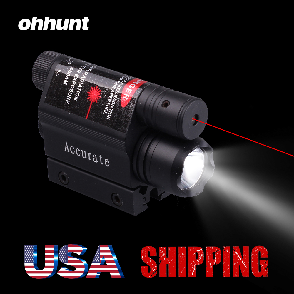 200 Lumen Us 42 5 Ohhunt 5mw Powerful Tactical Red Dot Laser Sight Scope Set 200 Lumen Led Flashlight Combo With Remote Pressure Switch For Rifle In Lasers