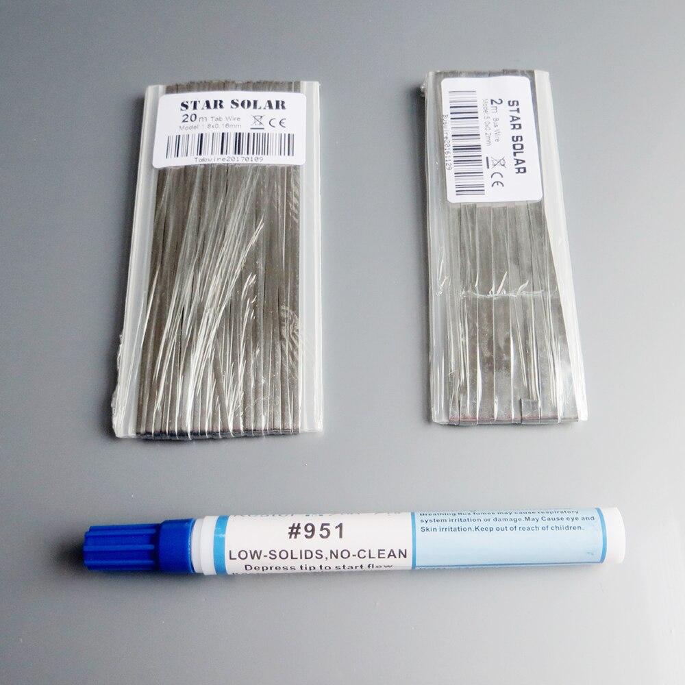 20 M filo Scheda + 2 M Bus filo PV Nastro tabulazione + 1 pz 951 10 ml di Saldatura Rosin Flux Pen