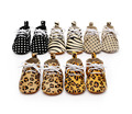 wholesale 10 pairs/lot baby oxford shoes genuine leather lace up Leopard dot girl boy soft sole Baby Moccasins kids First Walker