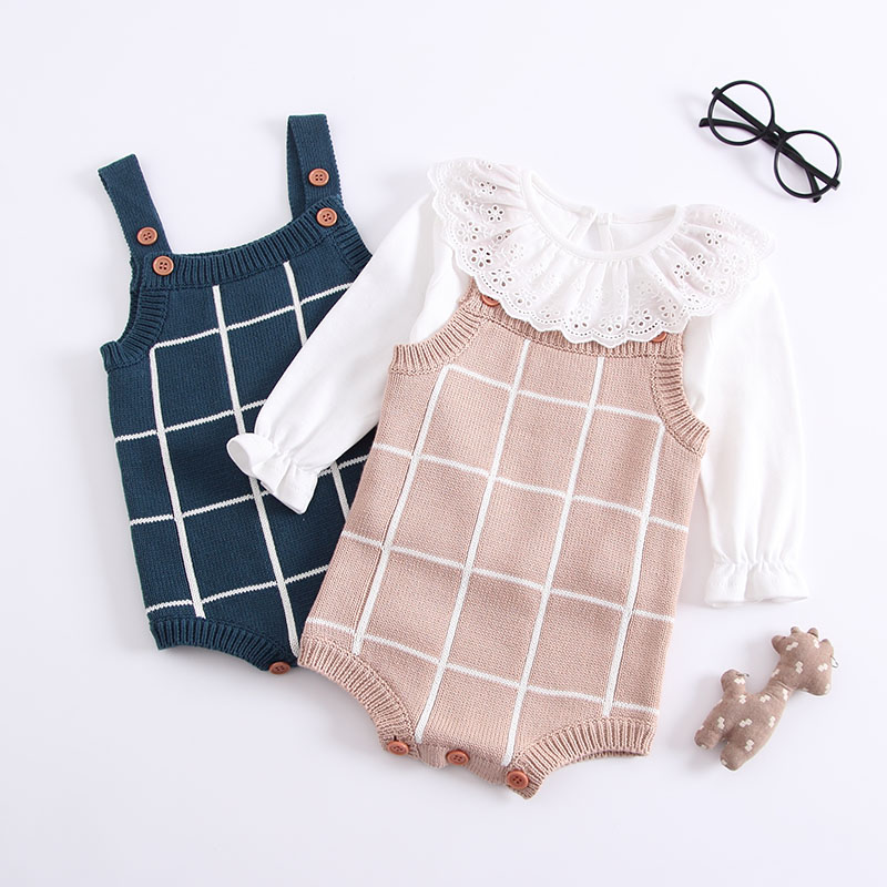 Newborn Baby Knitted Romper Boys Girls Baby Clothes Spring Summer Infant Baby Jumpsuit Baby Boys Romper Toddler Overalls
