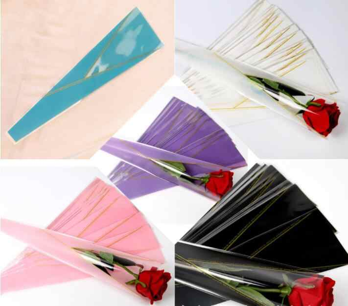 50pcs/lot Wrapping Paper For Flowers Rose Florist Packaging Paper Single Rose Flowers Gift For Wedding Floral Package