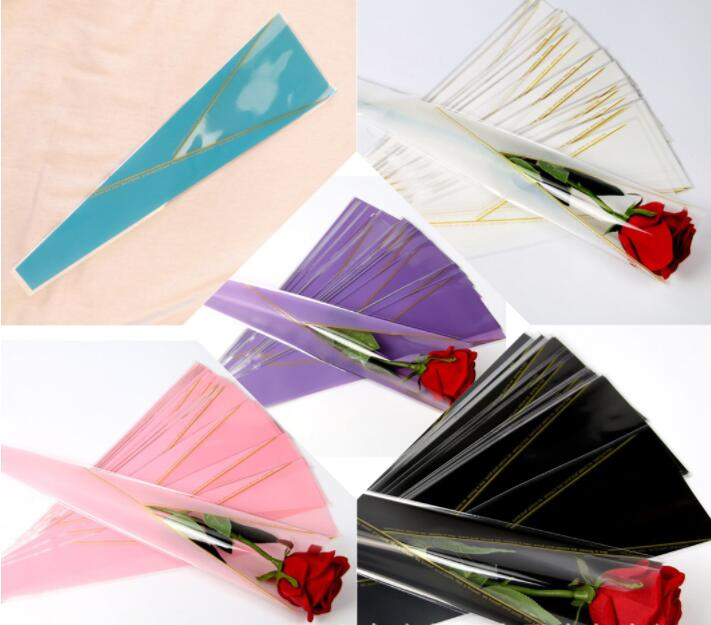 50 Pcs/lot Wrapping Paper For Flower Rose Florist Packaging Paper Single Rose Flowers Valentine Gift For Wedding Floral Package