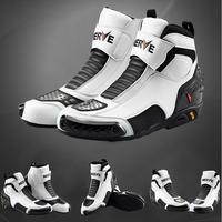 NEVE BIKERS Motorcycle Boots Moto Racing Motocross Off Road Motorbike Shoes Black/White/Red Size 39/40/41/42/43/44/45 NV005