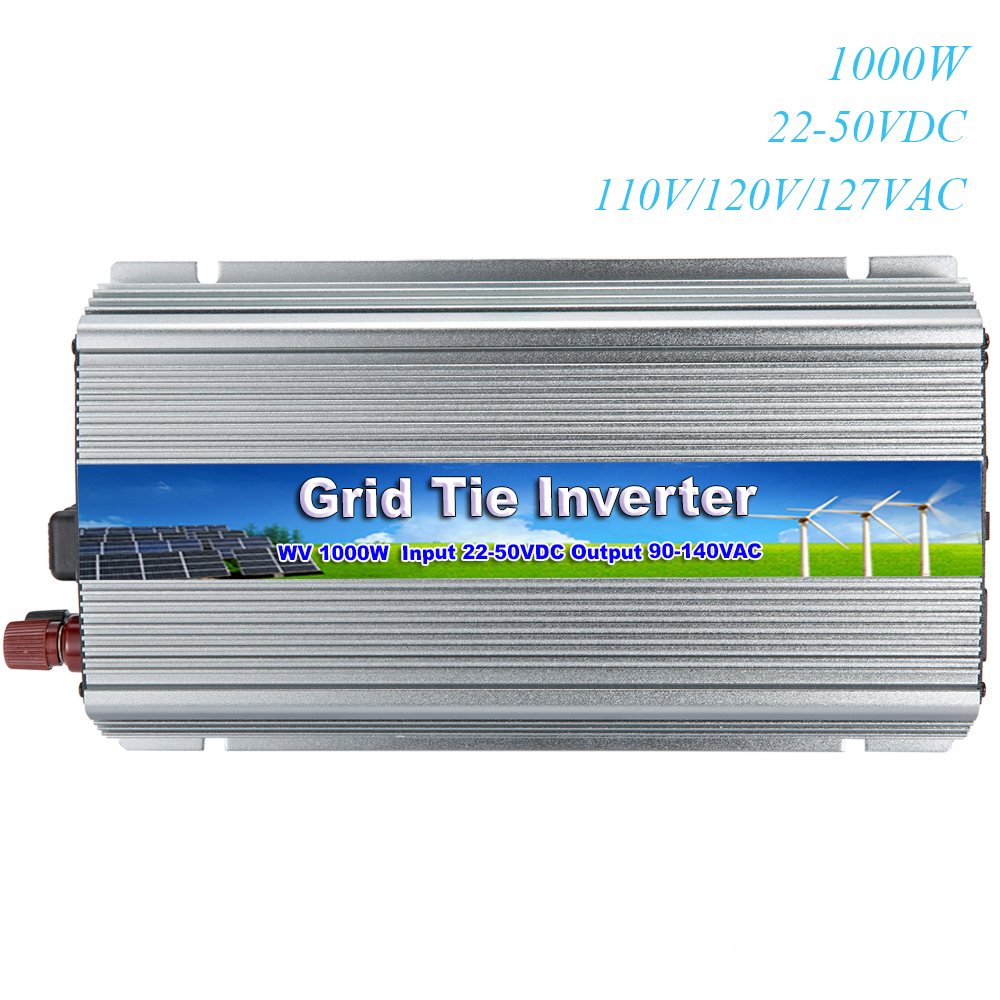 MAYLAR@ 22 50VDC 1000W Pure Sine Wave Grid Tie Inverter Output 90 140V 50hz/60hz Fit for 60 cell and 70 cell panels Home System