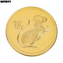 Год крысы памятная монета Китайский Зодиак сувенир вызов коллекционные монеты лунный календарь коллекция художественные подарки