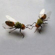 Artificial Metal Bee Animal Miniature Garden Decorations Hom