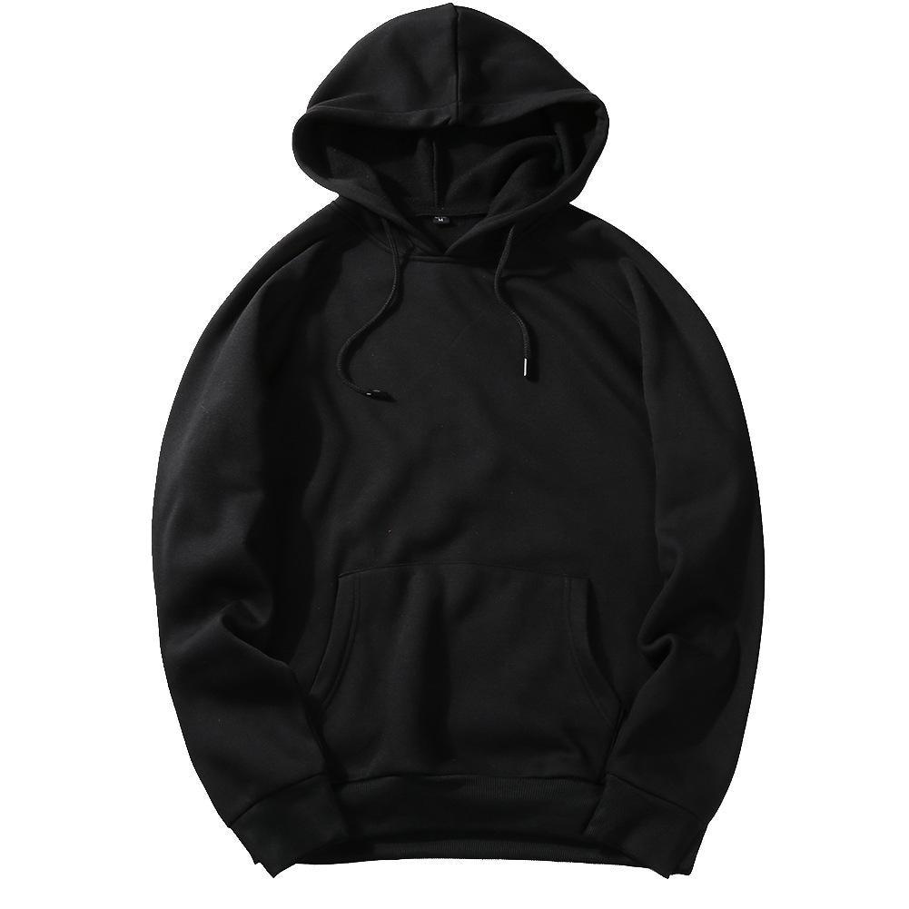 Men's Sportswear Long Sleeve Workout Tops Mens Sports Jackets Gym Sweater Shirts Sport Hoodies For Autumn Training Europe Size - Цвет: Черный