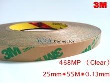 3 М 468MP, 25 мм * 55 М, 0.13 мм Толщиной, 200MP Клей, 2 Faces Клейкой Лентой, для ПЕЧАТНОЙ ПЛАТЫ, резина, металл, панели, ЖК-Дисплей Склеивания