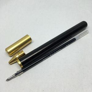 Image 5 - Handmade Ebony Wood& Brass Gel Pen Natural Color Metal Pen Luxury Gift Set for  Business Office & School Writing tool