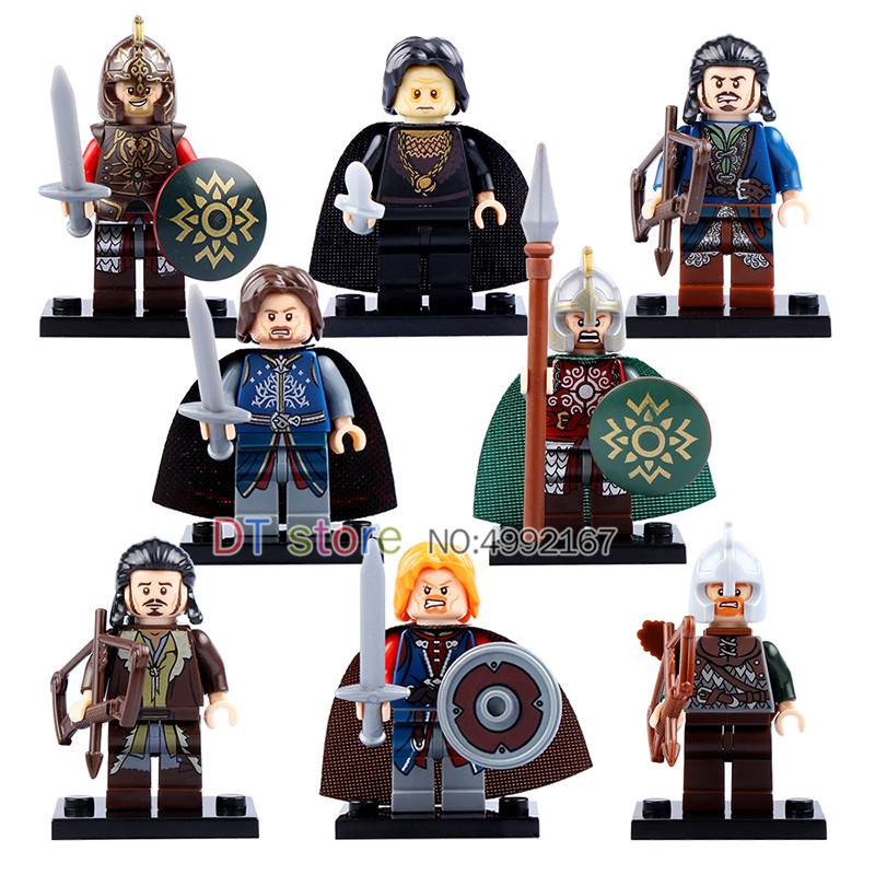 50Pcs/Lot Legoed Building Blocks Movie Lord of the Rings Series Archer Bard Assemble King Rohan Figures Children Toys PG803150Pcs/Lot Legoed Building Blocks Movie Lord of the Rings Series Archer Bard Assemble King Rohan Figures Children Toys PG8031