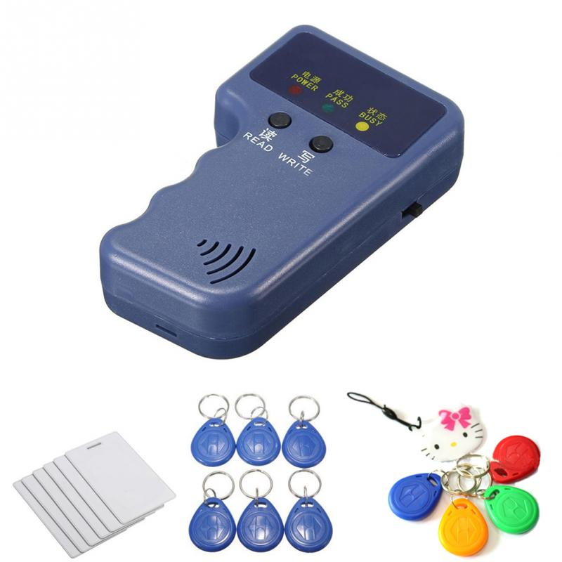 New Wholesale Handheld 125KHz EM4100 RFID Copier Writer Duplicator Programmer Reader With Writable ID Keyfobs Tags Card
