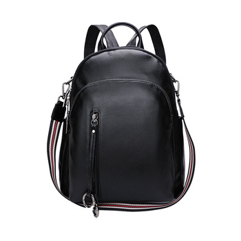 9070 New Fashion Genuine Leather Backpack Double Shoulder Bag Top Layer Cowhide Leather Bags Women Backpack