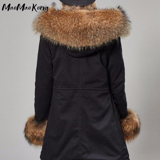 womens fox fur coat parkas winter jacket coat women parka big real fur collar kurtka damska natural fox fur liner long outerwear 2
