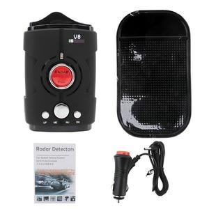Image 5 - Multi Functie Full Band Scanning Auto Radar Detector V8 Engels Russisch 360 Graden Voice Waarschuwing 16 Band LED Display