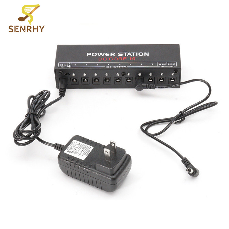 SENRHY Hot Guitar Effect Power Supply Station 10 Isolated Output 9V 12V 18V US Plug for Guitar Effects Pedals High Quality baby animal clip plush doll stuffed toy kids soft animal pattern plush toy infant stroller bed crib hanging bell toys
