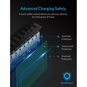 Image 5 - Anker 60W 10 Port USB Wall Charger PowerPort10 for iPhone Xs/XS Max/XR/X iPad Pro/Air 2/mini Galaxy S7/S6/Edge/Plus Note 5 More
