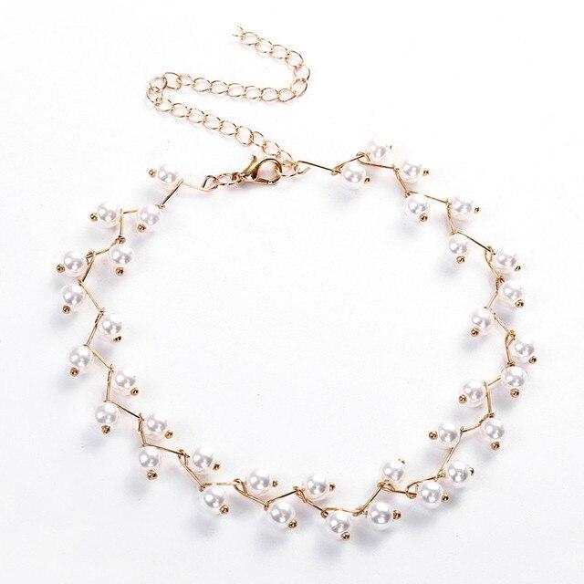 Sim. Pearl Bead Choker Necklace 1