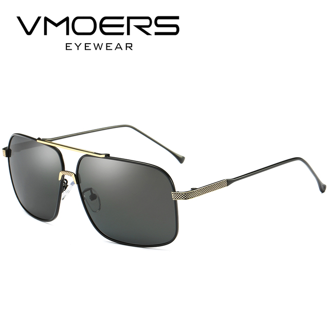 VMOERS Rectangle Aviator Sunglasses Male Polarized Driving Sun Glasses For  Men High Quality 100% UV400 Lenses Shades Oculos Men dd0cff0a897