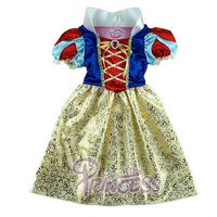 New Snow White Princess Cosplay Dress Girls Beautiful Xmas Party Costume Gift For Children Girl Clothing