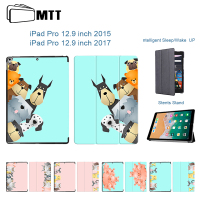 MTT Cute Cats Dogs Magentic Smart Cover For IPad Pro 12 9 Case Leather Flip Tbalet