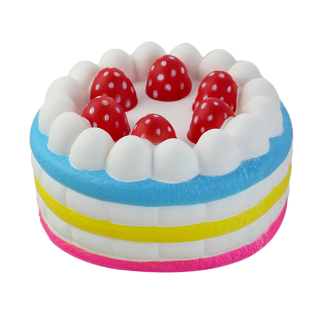 Adorable Squishies Kawaii Jumbo Strawberry Cake Slow Rising Cream Scented Stress Relief Toy 3.15