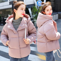 Winter Fashion Down Thick Jacket Cotton Women Short Loose Warm Hooded Casual Camperas Mujer Abrigo Invierno Loose Coat MZ2950