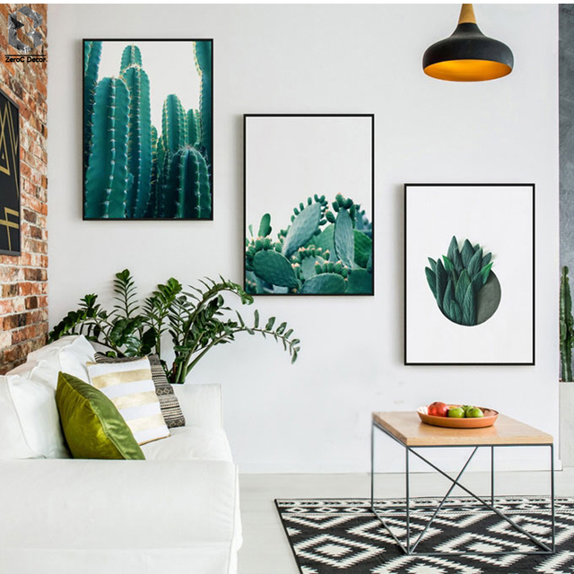 Nordic Cactus Print And Poster Canvas Art Paintings For Living Room Decoration Fresh Succulent
