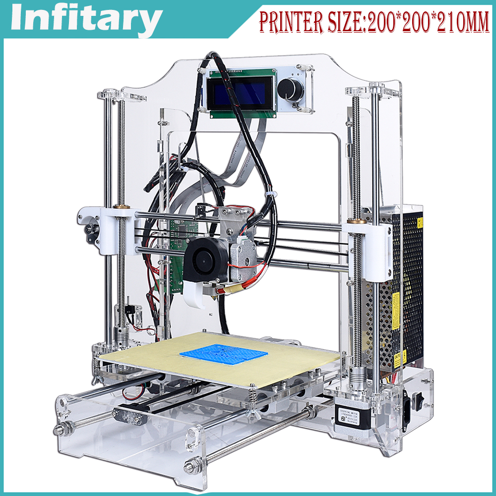 Upgrated 3d-printer High Quality Reprap prusa i3 3D printer kits DIY Big Printer Size With one roll Filament And LCD Free