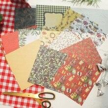 24 Sheets DIY 12 Style 15.2*15.2cm Ilex Aquifolium Christmas Gift Theme Craft Paper Scrapbooking Creative Handmade