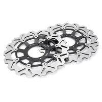 For TRIUMPH DAYTONA STREET TRIPLE R 675 Front Brake Disc Rotors Motorbike Parts Accessories Black Left