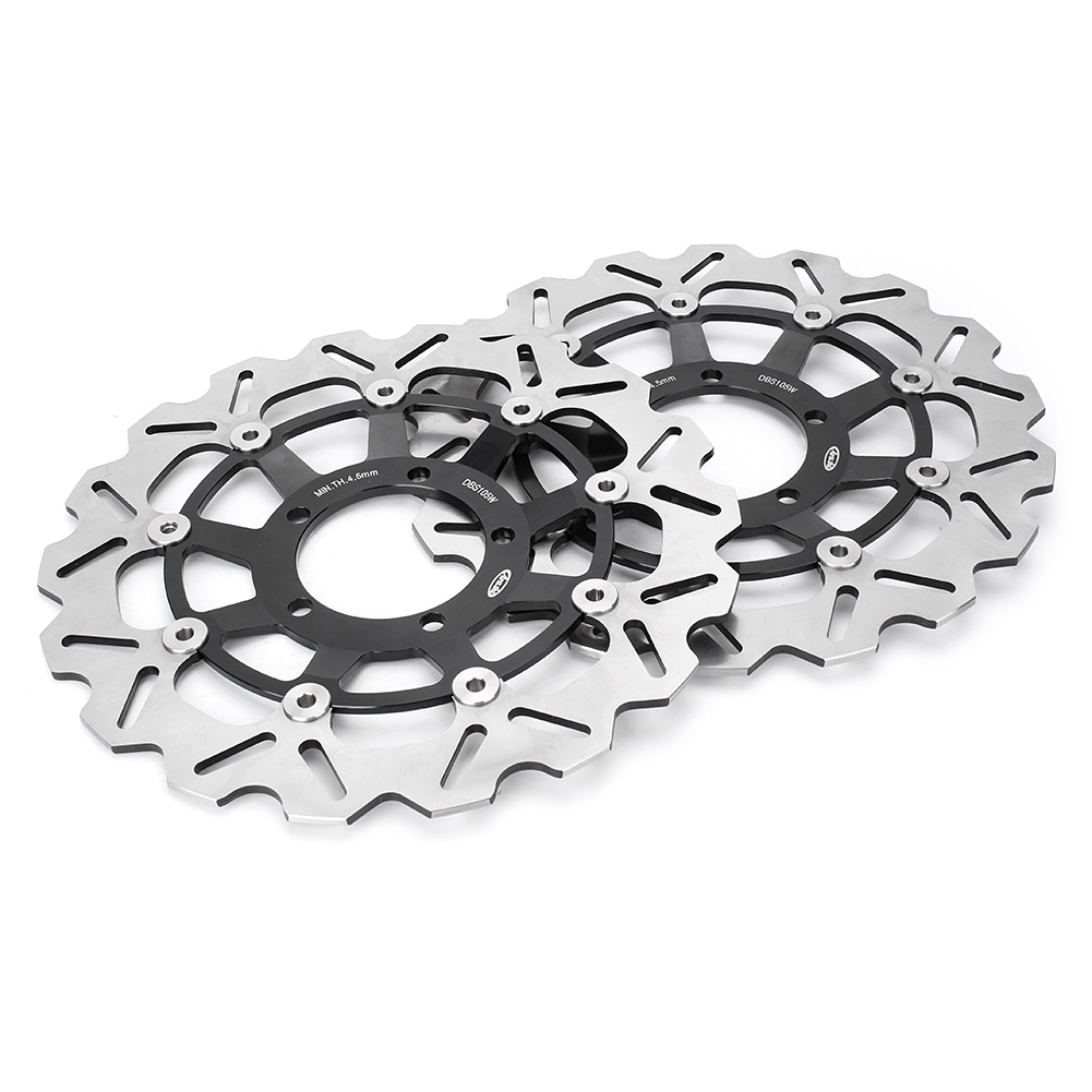 цена на For TRIUMPH DAYTONA 675 R /STREET TRIPLE 675 R Front Brake Disc Rotors Motorbike Parts Accessories Black Left + Right 2PCS