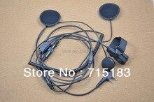 Envío gratuito casco de la motocicleta auriculares para Baofeng UV-B5 UV-B6 UV-5R UV-3R + plus, kenwood, Wouxun kg-uvd1p, Quansheng TG-UV2 radio cb