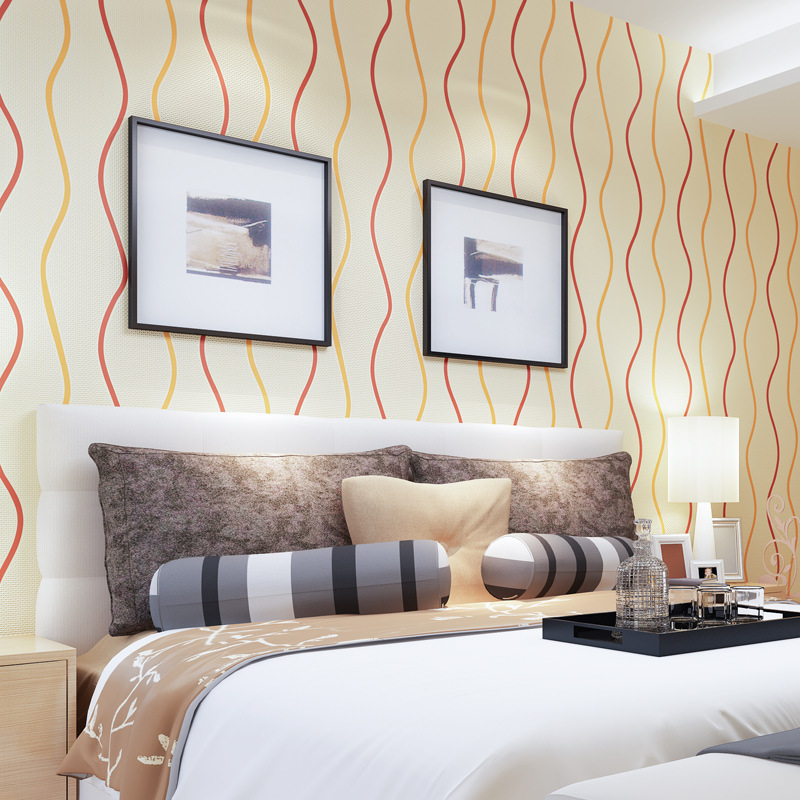 beibehang papel de parede curve stripe non-woven wallpaper modern minimalist living room bedroom sofa TV background wallpaper beibehang papel de parede mediterranean blue living room modern minimalist bedroom wallpaper background retro vertical stripes