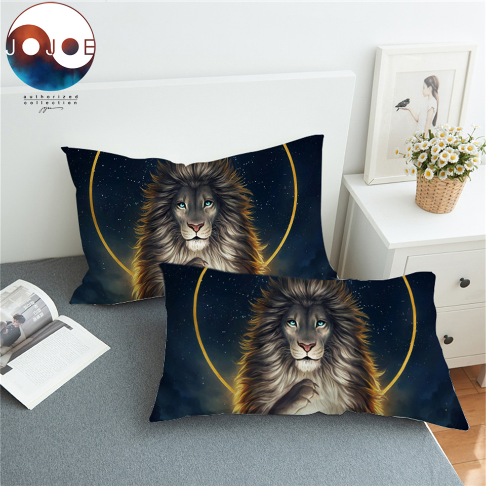 Soul Keeper by JoJoesArt Pillowcase Lion God In The Sky Pillow Case Golden Bedding Home Textiles Noble and Hol Pillow Cover 2pcs