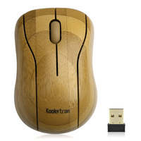 Koolertron Bamboo 2 4G Wireless Optical Mouse Mice Practical Comfortable Mini Portable Computer Mouse